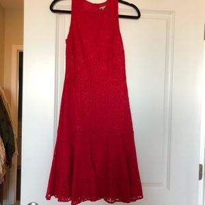 H&M fitted red lace dress NWT